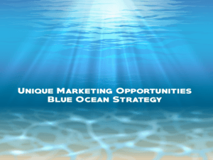 Learn To Create Unique Marketing Opportunities, Blue Ocean Strategy